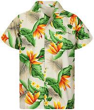Funky Camicia Hawaiana Strelitzie Beige