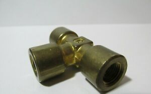 """Live Steam Large Scale 1/4"""" NPT Brass TEE - New Train Parts"""