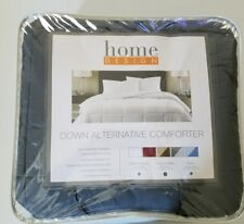 Sale Home Design Down Alternative Full Queen Gray Solid Comforter Msrp $120