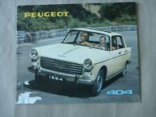 1964 PEUGEOT 404 Catalogue Brochure Prospekt Dépliant French