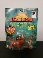 Vintage Disney's The Lion King Figures Comic Action Pumbaa With Timon New in Pkg