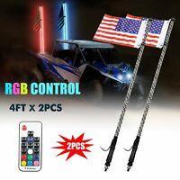 2 Inch UTV Flag Pole Led Whip Holder Clamp Fit Vertical Horizontal and 45 Degree
