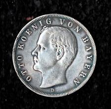 3 Mark - Bayern - 1909 - D - König Otto - Echte alte Münze - (uC1N239)