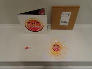 Black Moth Super Rainbow Cobra Juicy RARE 2012 WHITE ORANGE LP & RAD CULT MAILER