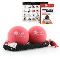 Sfera Massage Balls for Yoga, Trigger Point and Myofascial Therapy w/ Bag - Firm
