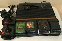 Atari 2600 Launch Edition Black Stationary System 11 Games 2 Controllers Parts