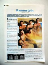 COUPURE DE PRESSE-CLIPPING : RAMMSTEIN  09/2004 Christof,Richard,Reise Reise