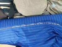 Blue with white stripe suiting fabric cashmere wool best for suit pants jacket