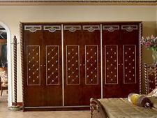 Wall Cabinet Baroque Rococo Antique Style Wardrobe Wardrobe 6 Doors Solid Wood
