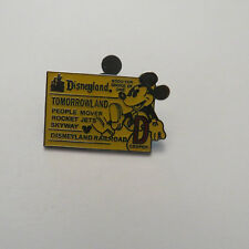 Disney DLR Global Lanyard Series Mickey D Ticket Tomorrowland Pin