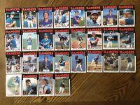 1986 TEXAS RANGERS Topps COMPLETE Baseball Card Team Set 28 Cards HOUGH HOOTEN!