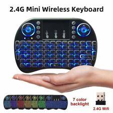 i8 Mini Funk Kabellos Tastatur Touchpad Wireless QWERTZ Keyboard Backlit Deutsch