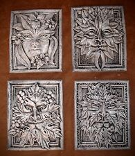 Lot of 4 Green Man Leaf Mythical Season Faces Gothic Art Forest Mask