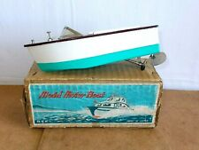 vintage toy / ancien jouet - MSK made in japan MIYAZAWA - MODEL MOTOR BOAT - 50s