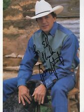 George Strait autographed 8x10 color photo Great Country Singer To Ed