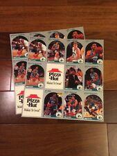 Charlotte Hornets Pizza Hut 1990 Uncut Sheet Promo Card Set NBA Good Condition