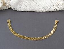 "14K Yellow Gold Woven Chain Link Riccio Style Bracelet 7.5"""