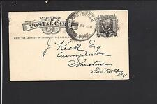 AMSTERDAM, NEW YORK 1880 GOVERNMENT POSTAL CARD, FANCY CL, MONTGOMERY CO 1803/OP