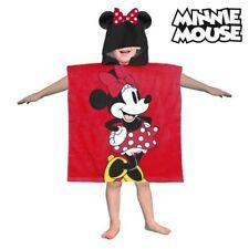 Minnie Mouse Disney Kids Hooded Poncho Children Bath Beach Pool Towel Red