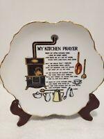 Vintage Kitchen Prayer Wall Plate