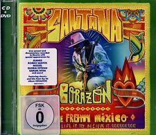 BRAND NEW CD/ DVD COMBO // SANTANA // CORAZON // 42 TRACKS LIVE FROM MEXICO //
