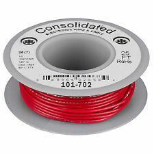 Consolidated Stranded 26 AWG Hook-Up Wire 25 ft. Red UL Rate