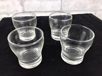 """Set of 4 Vintage Small Clear Drinking Cocktail Juice Glass 3"""" Height"""