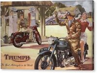 "Triumph ""The best Motorcycle"" VINTAGE POSTER/ AD Canvas Box/ Photo/ Art Print"
