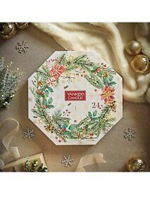 YANKEE CANDLE FESTIVE TEALIGHT CHRISTMAS ADVENT WREATH CALENDAR CANDLES & HOLDER