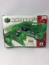 *NO CONSOLE* Nintendo 64 N64 Jungle Green Funtastic Video Game System Box RARE!
