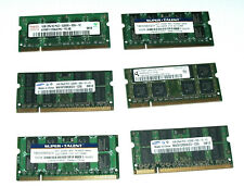 1GB DDR-2 Laptop RAM - Each Lot consists of 6 Modules of Various Brands