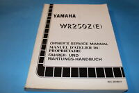 1993 OEM WR250Z ( E ) Owner's service manual , 4DC-28199-81