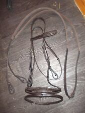 new frank baines leather bridle & rubber reins