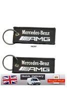 Mercedes Benz Amg Car Logo Fabric Mrc Keyring Keychain Keyfob Automobile Gift
