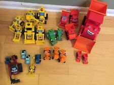 Large Lot Plastic Bob The Builder Cars , Metal Plastic, Large Cars, See