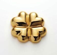 Nima Oberoi Lunares Four Leaf Clover Symbol ~ Gold ~ Brand New ~ Free Ship!!!