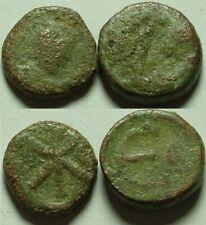 New listing Lot of 2 Genuine ancient Byzantine coins Anastasius, Epsilon 518 Justin, Chi-rho