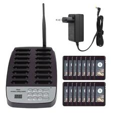 SU-66 Wireless Pager System with 16Pcs Restaurant Guest Queuing Calling Receiver