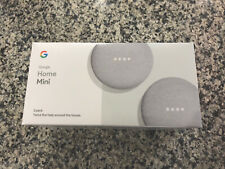 Brand New Factory Sealed - Google Home Mini Smart Assistant, Two Pack - Chalk