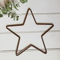 39cm Rusty Metal Star Iron Wire Hanging Wall Mantle Garden or Xmas Decoration