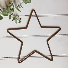 45cm Rusty Metal Star Iron Wire Hanging Wall Mantle Garden or Xmas Decoration
