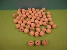 Holzkugeln - Durchmesser 15 mm,mit Bohrung - 100 Stück