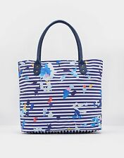 NEW Joules Carriwell Canvas Overnight Bag Navy Stripe Floral