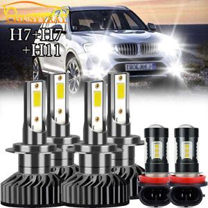 For BMW 328i 325xi 330xi 2002-2005 2006 Combo LED Headlight Fog Light Bulbs Kit