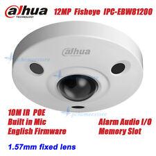 Dahua IPC-EBW81200 12MP POE IR Vandal-proof Built-in Mic Fisheye Dome Camera