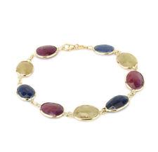 Bracciali di lusso con gemme multicolore pietra principale zaffiro