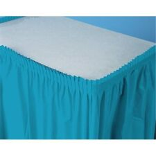 """Special Occasion, Plastic Table Skirt, 29""""x13' - Turquoise"""