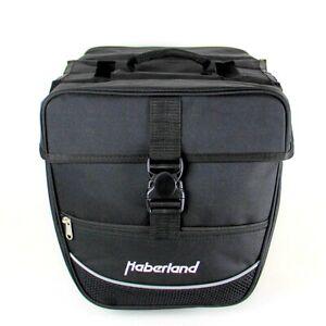 Haberland Fahrrad Doppeltasche Packtaschen Basis Reflex Schwarz