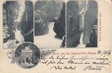 Postkarte - Gruss aus der Sigmund-Thun-Klamm