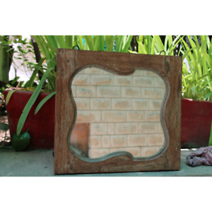 Handcraft new shape Decorative wooden wall frame with mirror home  decor frame